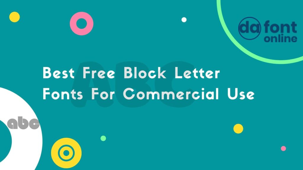 Best Free Block Letter Fonts For Commercial Use
