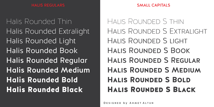 Halis Rounded Font View