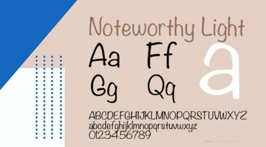 Noteworthy Font Free Download