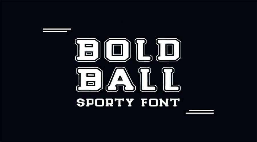 Bold Ball Font Free Download