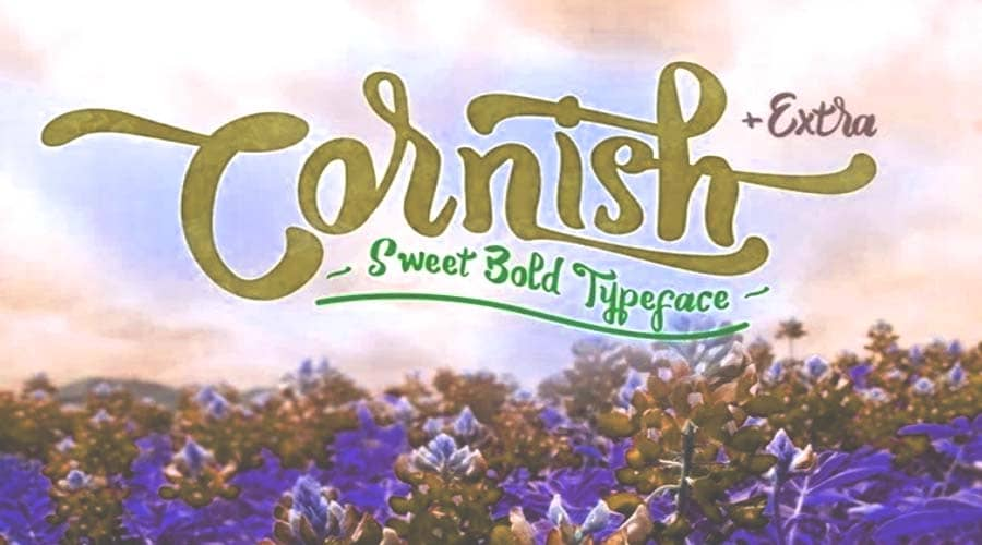 Cornish Extra Typeface Free Download
