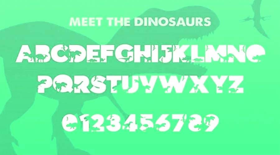 Dinosauce Font View