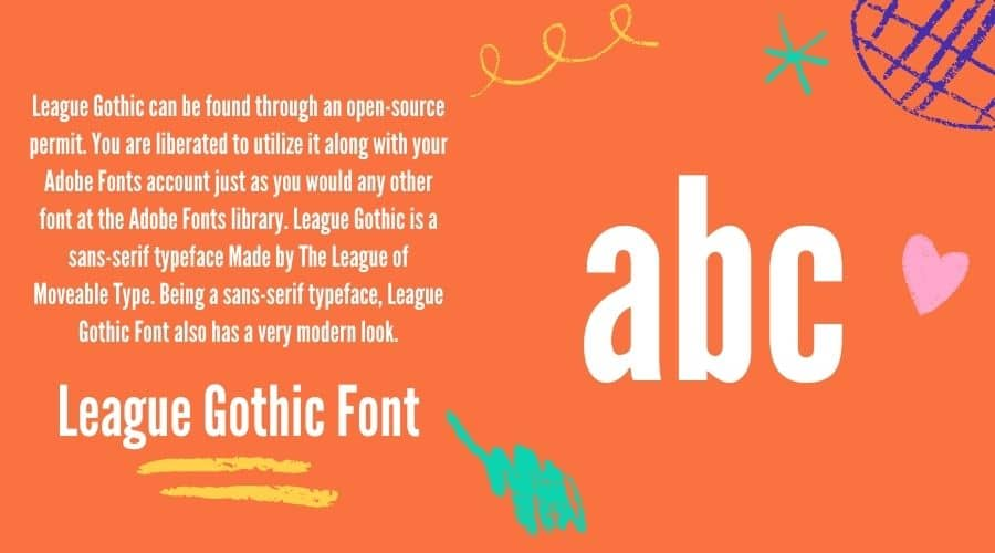 League Gothic Font Free Download