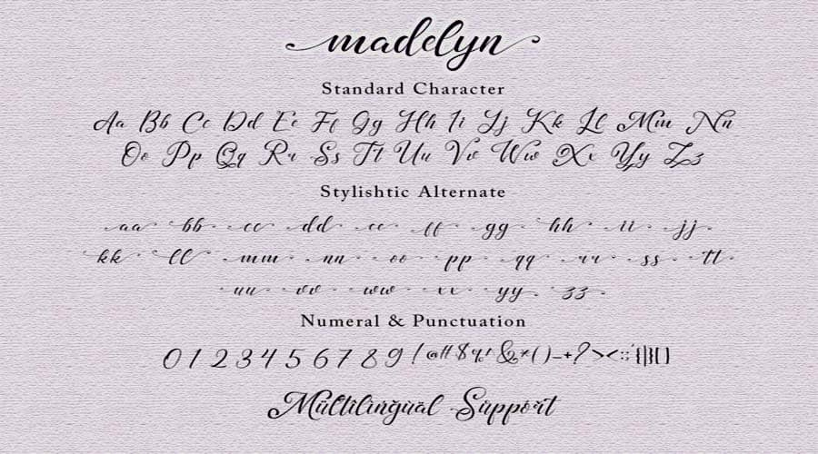 Madelyn Chic Script fonts View