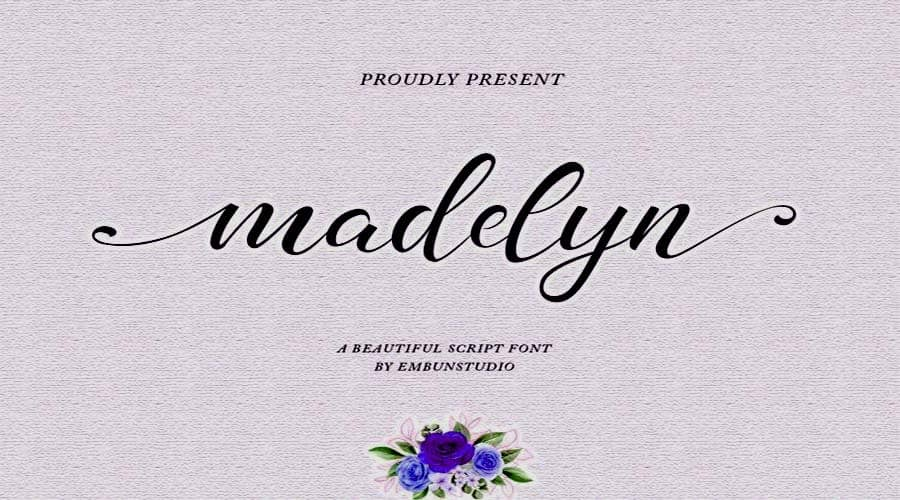 Madelyn Chic Script fonts
