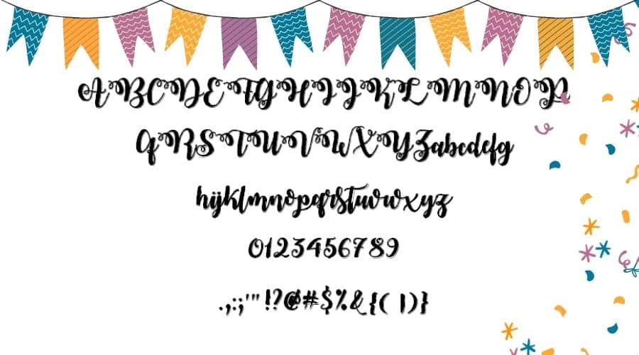 Midnight in October Font View