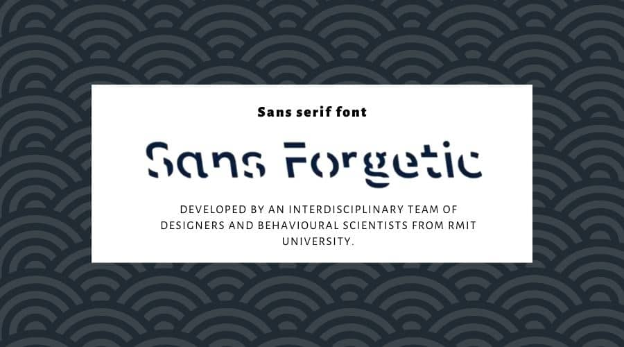 Sans Forgetica Font Free Download