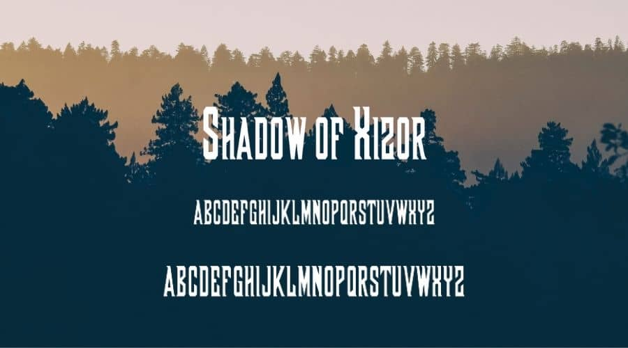 Shadow of Xizor font Free Download
