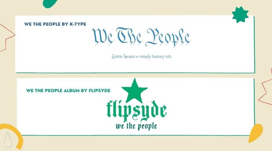 We the people Font Free Download