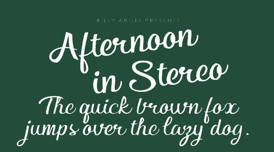 Afternoon in Stereo Font Free Download