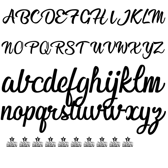 Afternoon in Stereo Font View