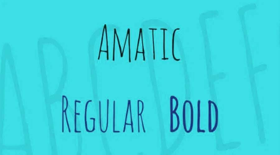Amatic Font Free Download