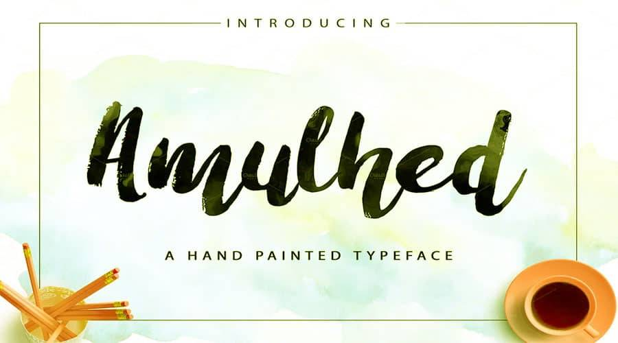 Amulhed Brush Font Free Download