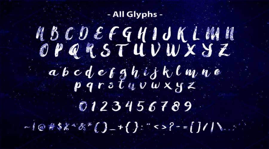 Amulhed Brush Font View