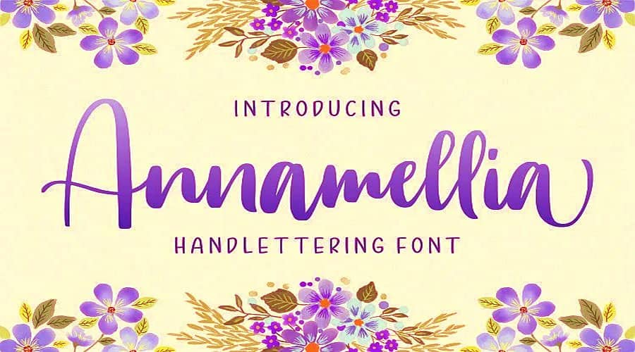 Annamellia Handlettering Font Free Download
