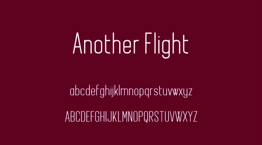 Another Flight Font View