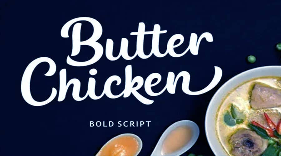 Butter Chicken Font Free Download
