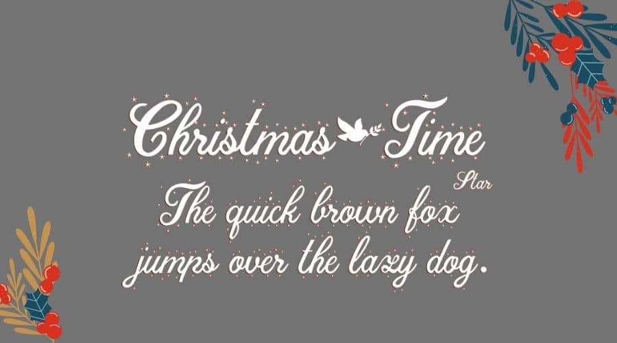 Christmas Time Font View
