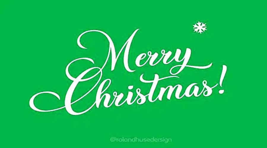 Christmas Wish Calligraphy Font Free Download