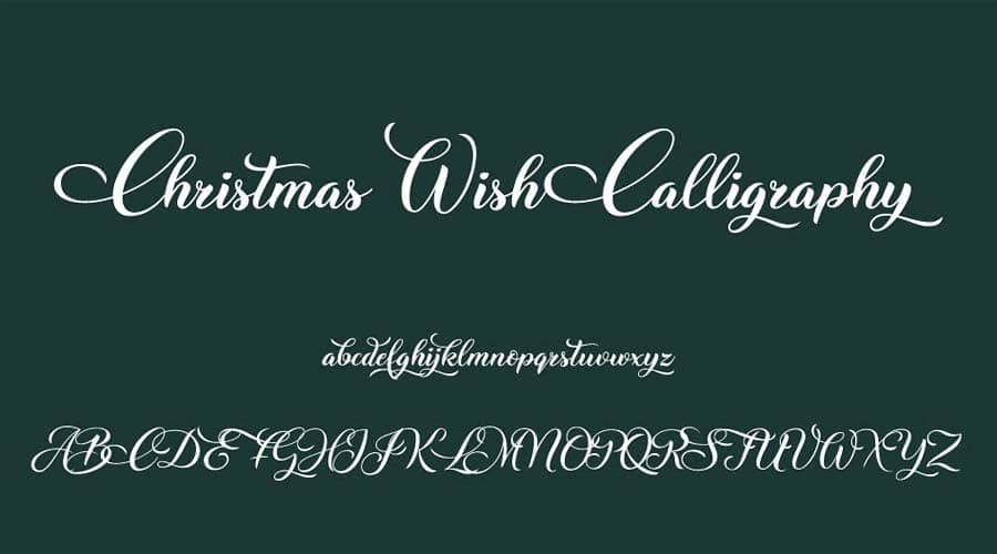 Christmas Wish Calligraphy Font View
