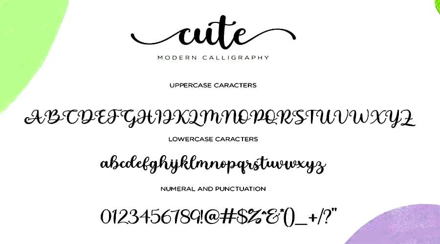 Cute Modern Calligraphy Font View