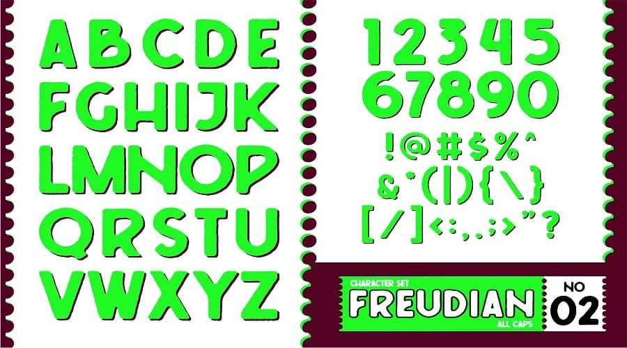 Freudian Typeface View