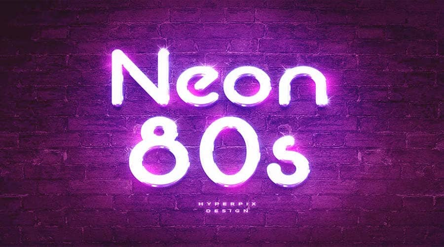 Neon 80s Font Free Downloaad