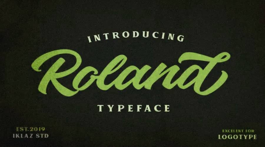 Roland Typeface Free Download