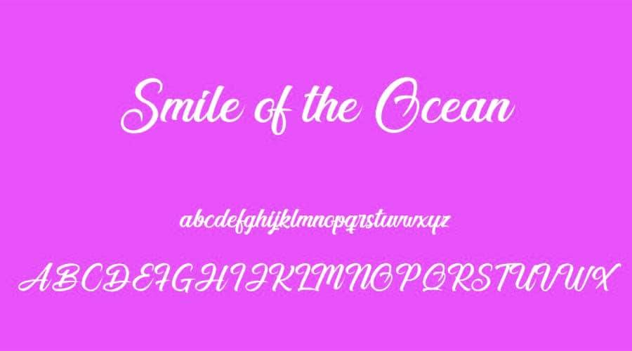 Smile of the Ocean Font View