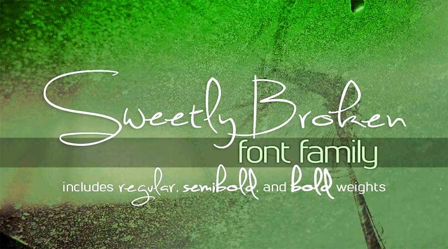 Sweetly Broken Font Family Free Download