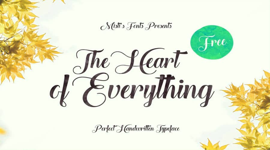 The Heart of Everything Font Free Download