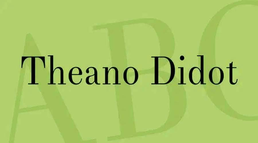 Theano Didot font Free download