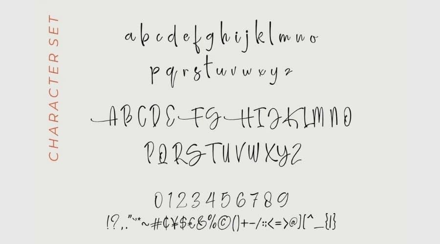 Amellia Ink Font View