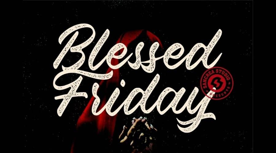 Blessed Friday Script Font Free Download