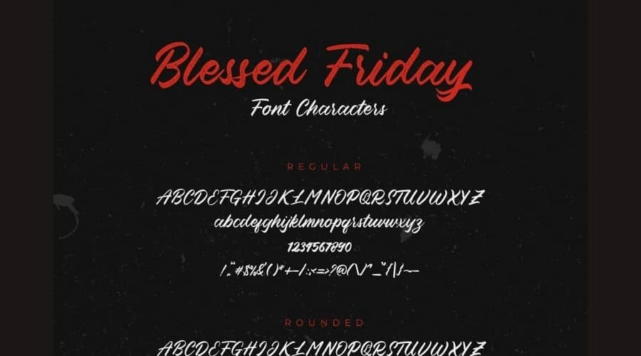 Blessed Friday Script Font View