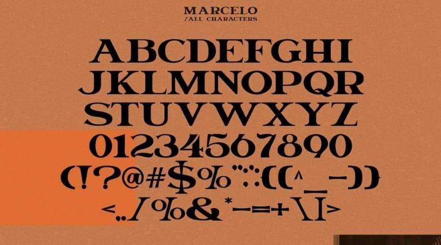 Marcelo Engraved Serif Font View