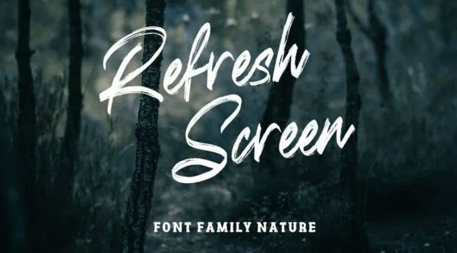 Refresh Screen Font Free Download