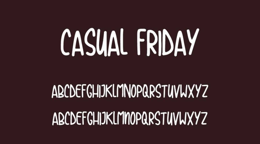 Casual Friday Font View