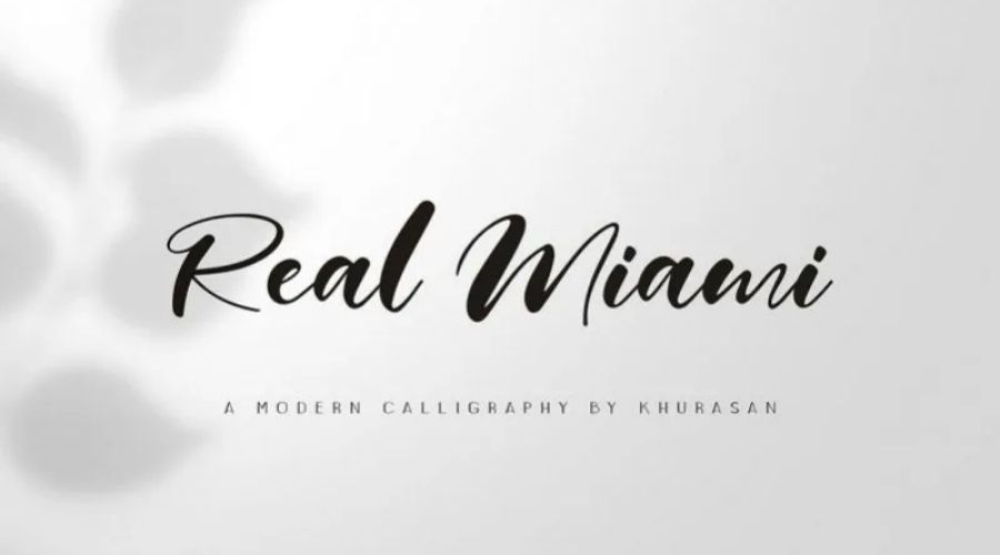 Real Miami Calligraphy Font Free Download