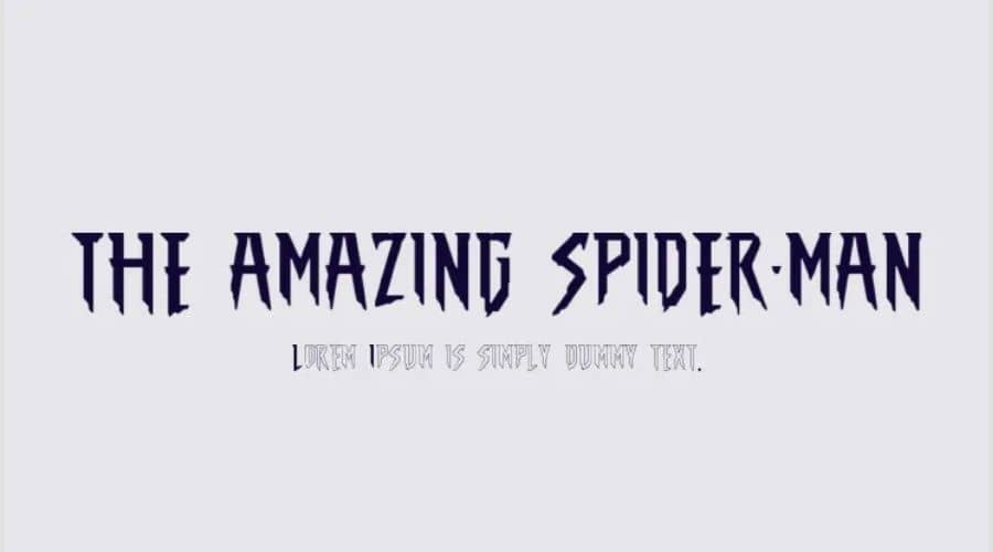The Amazing Spider-Man Font Free Download