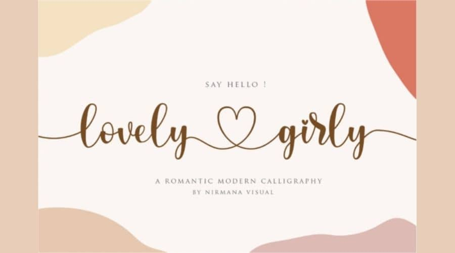 Lovely Girly Calligraphy Font Free Download