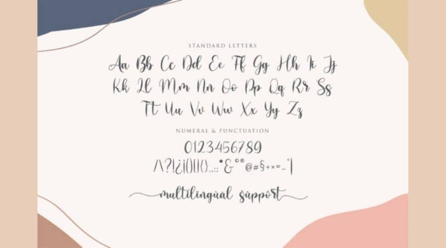 Lovely Girly Calligraphy Font View