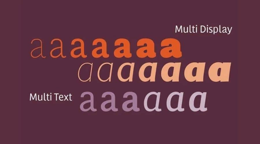 Multi Font Family View