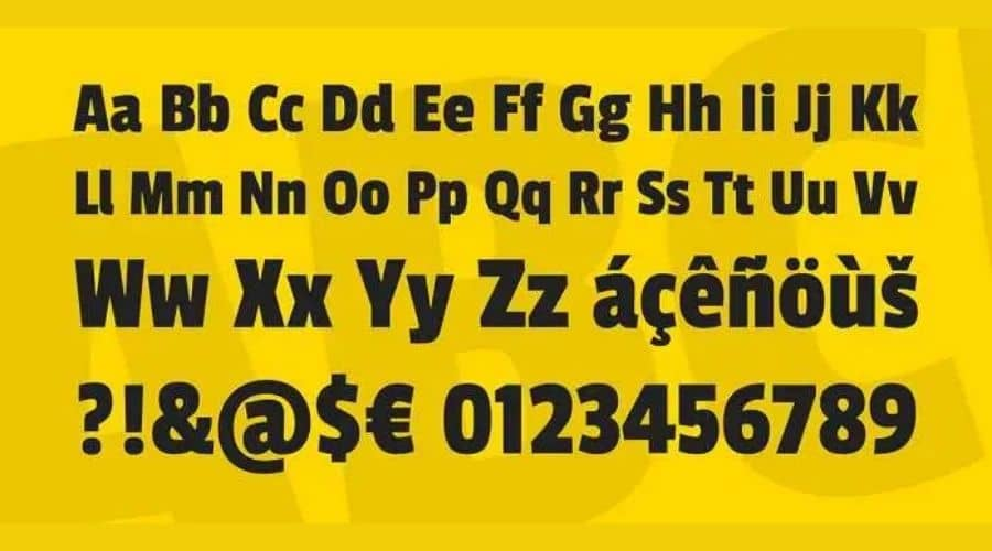Passion One Font View