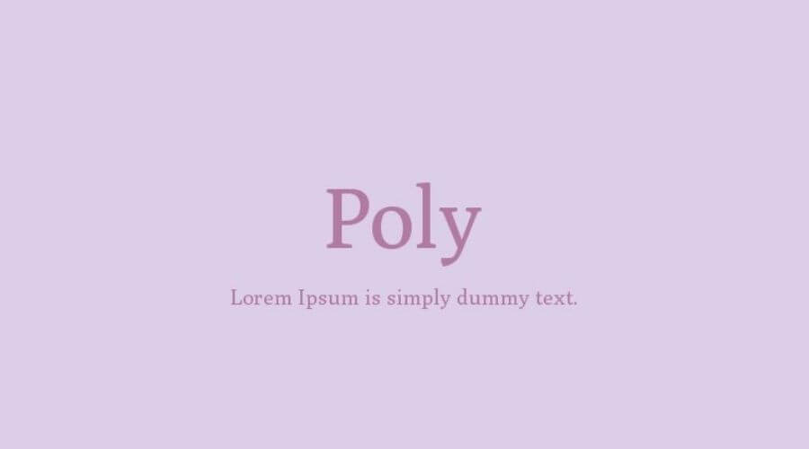 Poly Font Free Download