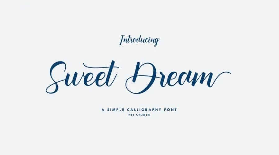 Sweet Dream Calligraphy Font Free Download