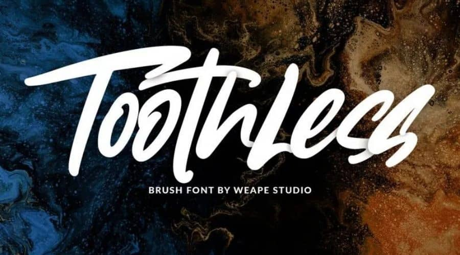 Toothless Brush Font Free Download