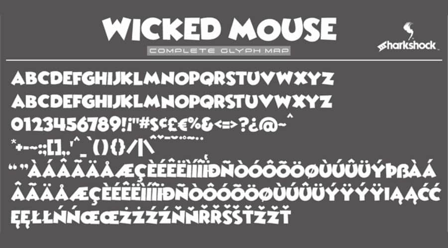 Wicked Mouse font View