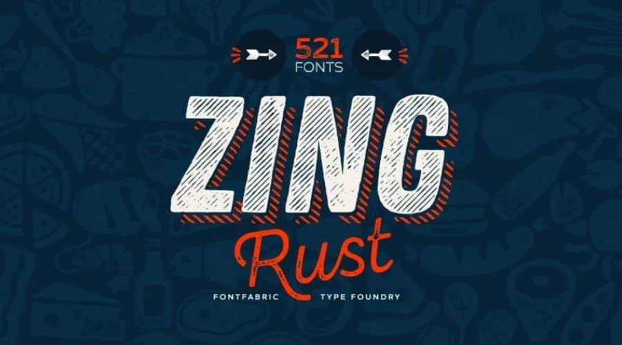 Zing Rust Font Family Free Download