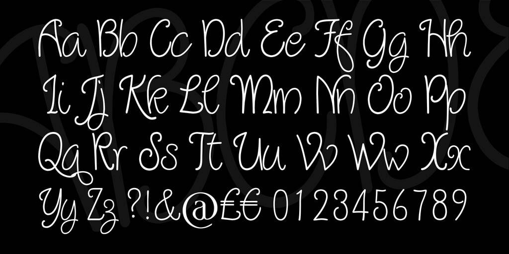 Quirlycues Font View